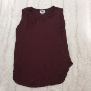 Old navy burgundy cut out tank